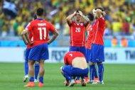 Бразилия лишь по пенальти прошли Чилийцев